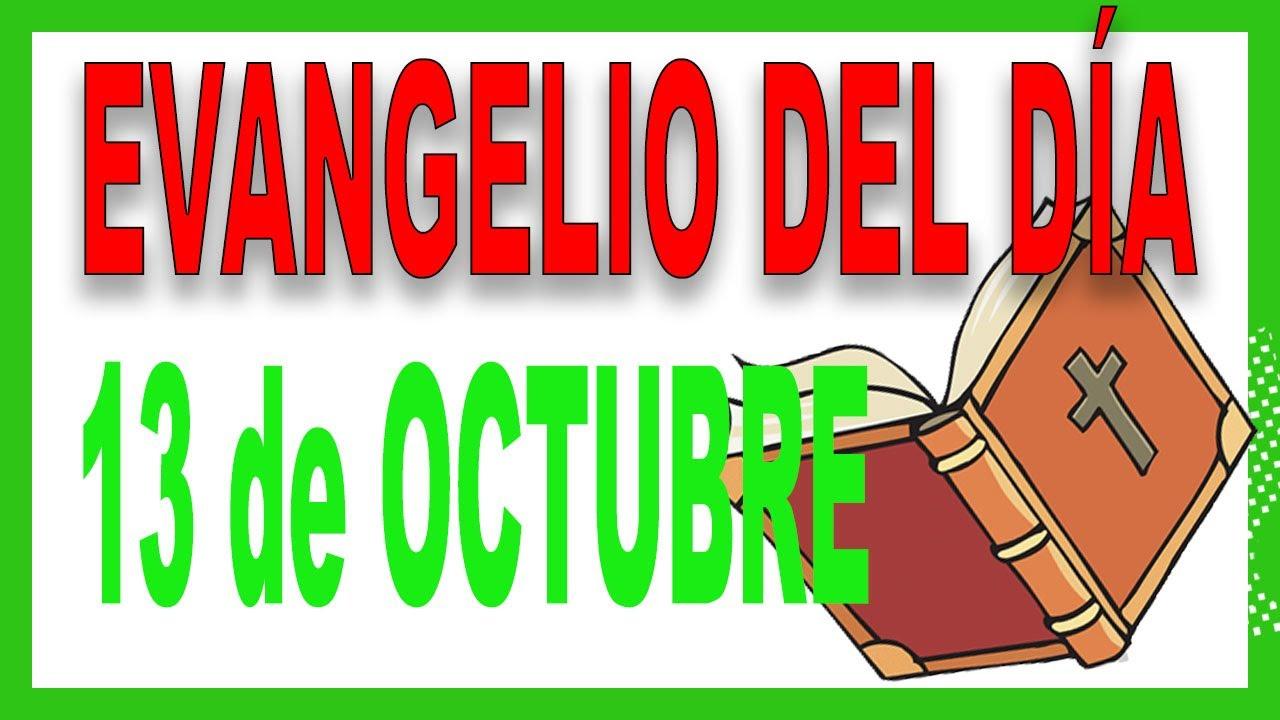 ᐅ Evangelio del día 13 de octubre con el Padre Guillermo Serra