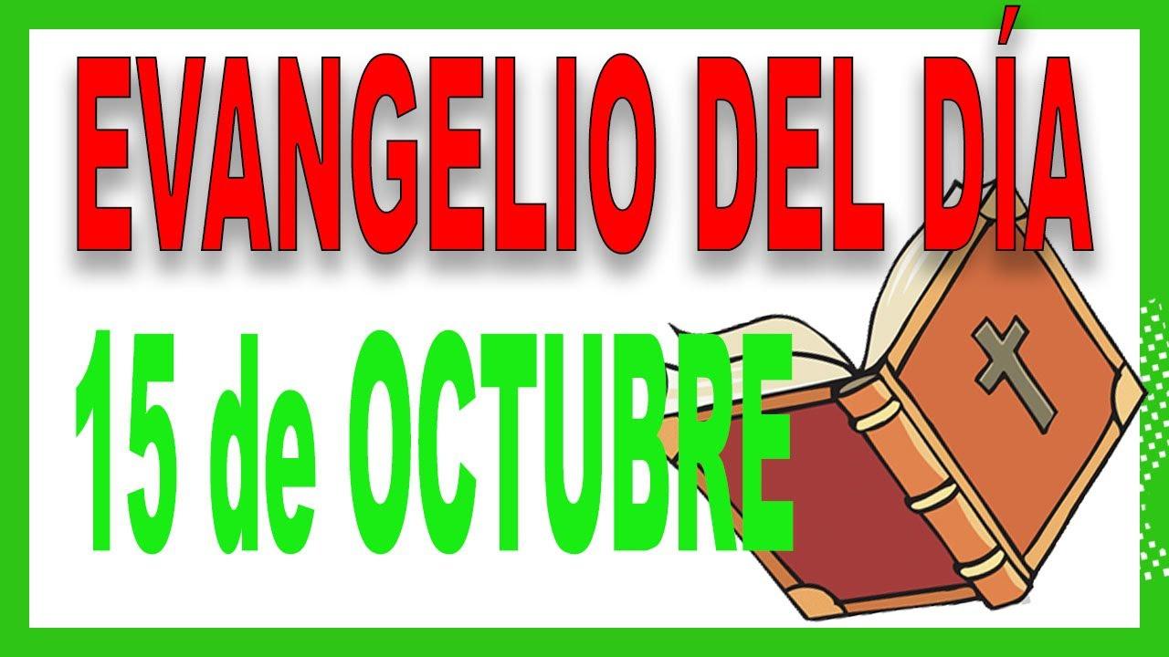 ᐅ Evangelio del día 15 de octubre con el Padre Guillermo Serra